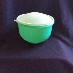 Vintage Green Tupperware Lettuce keeper bowl EUC